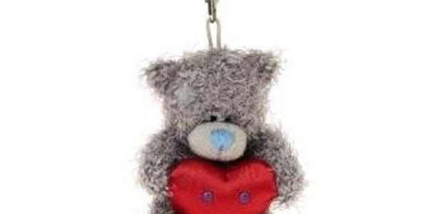 MTY klíčenka 7cm s červeným srdcem
