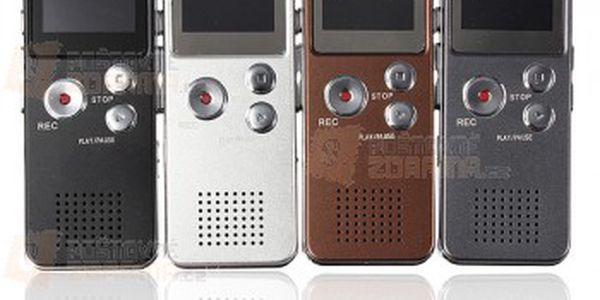 4 GB digitální záznamník s MP3 přehrávačem - 4 barvy a poštovné ZDARMA! - 11509484