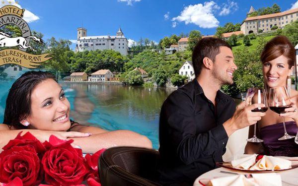 Jižní Čechy s výborným jídlem a privátní vířivkou