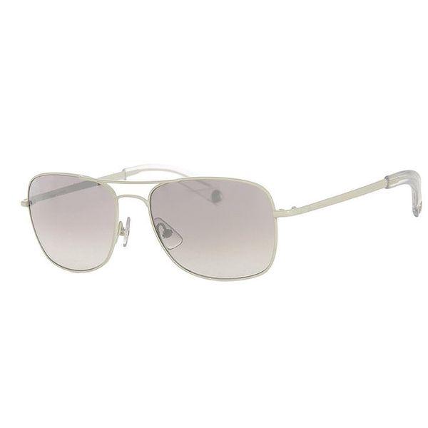 Pánské šedé hranaté sluneční brýle Calvin Klein