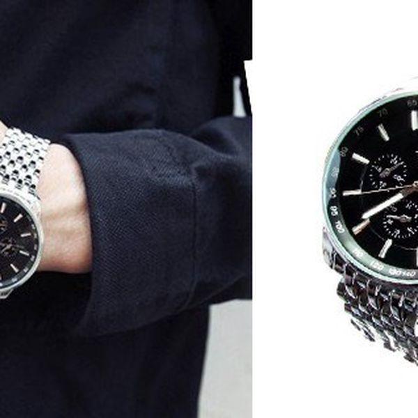 Luxusné pánske hodinky SINOBI LUXURY S15 vyrobené zo zdravotne nezávadného, antialergénneho a odolné nerezovej ocele pre pohodlné nosenie!