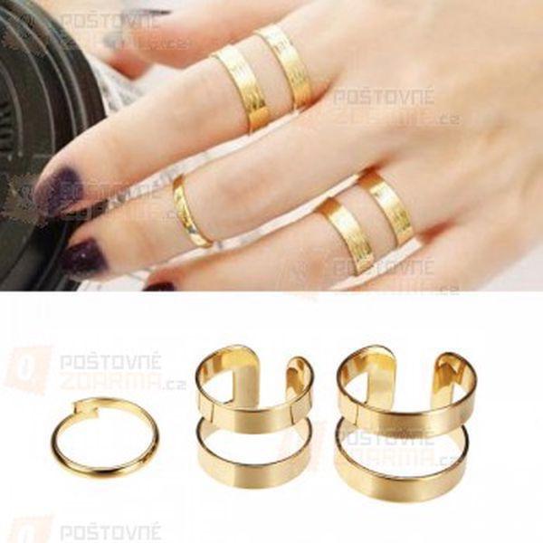 3 kusy hladkých prstýnků a poštovné ZDARMA! - 14009507