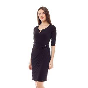 Dámské černé šaty s průstřihem 4Lilou