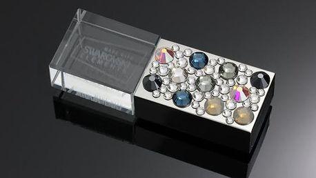 8GB USB s barevnými Swarovski krystaly