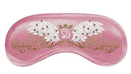 Páska na oči Swarovski - wings pink + chladící vložka