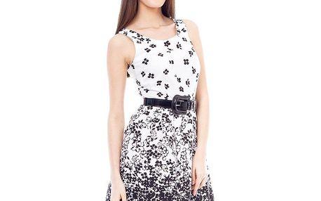 Dámské bílé šaty s kytičkami 4Lilou