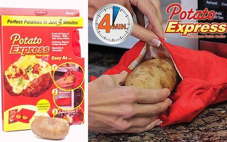 Sáček na vaření brambor v mikrovlnce s dopravou v ceně