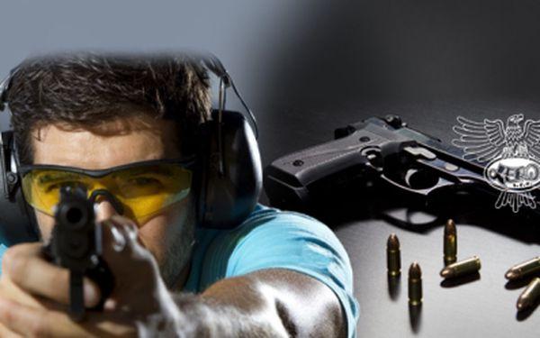 STŘELBA ze 13 ZBRANÍ (101 NÁBOJŮ) za fantastickou cenu 1199 Kč! Zahrajte si na snipera, ovládněte zbraně z počítačových her jako jsou Counter Strike a vyzkoušejte si zbraň nejvíce používanou akčními hrdiny! Sleva 66%!