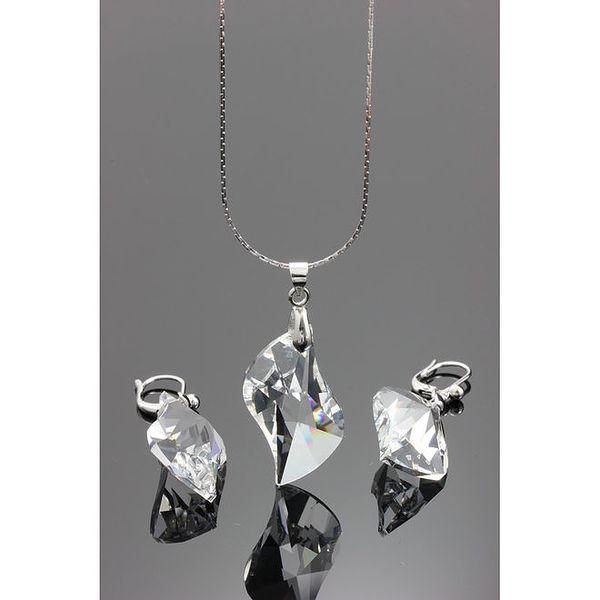 Sada náhrdelníku a náušnic s krystaly Swarovski