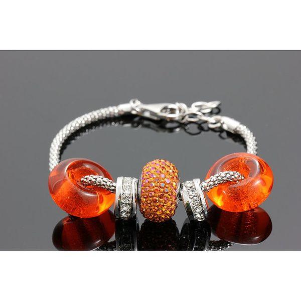 Dámský náramek s oranžovými krystaly Swarovski