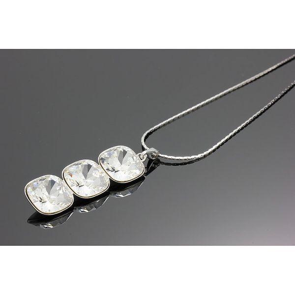 Dámský náhrdelník s podlouhlým přívěskem Swarovski