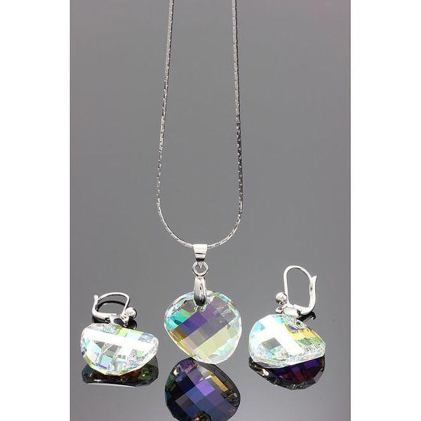 Sada náhrdelníku a náušnic s duhovými krystaly Swarovski
