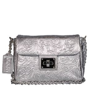 Dámská stříbrná kabelka s řetězem POON Bags