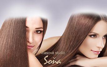 Prodloužení vlasů! Navštivte Studio Soňa a pyšněte se bujnou kšticí delší až o 45 cm za skvělou cenu 499 Kč! Krásné, husté a dlouhé vlasy vykouzlíme se slevou 77%!