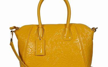 Dámská žlutá kabelka se vzorem POON Bags