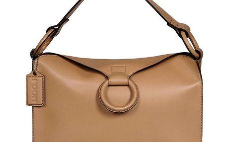 Dámská béžová obdélníková kabelka POON Bags
