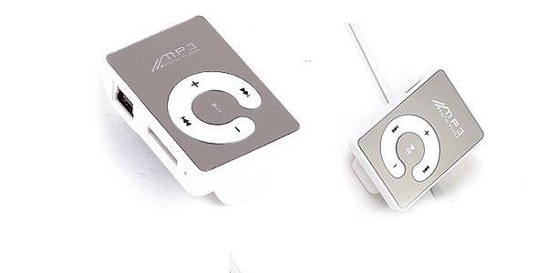 MP3 prehrávač v športovom prevedení so zrkadlovou plochou vhodný pre bežné počúvanie aj pri športe!