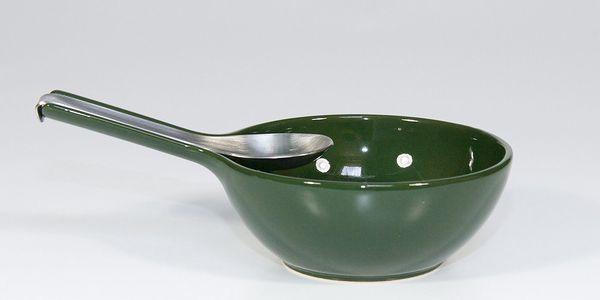 Mísa s lžící, zelená