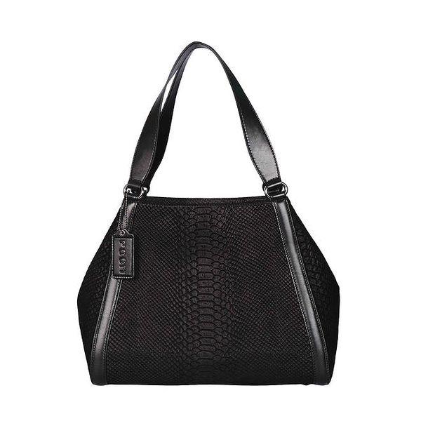 Dámská černá kabelka se dvěma uchy POON Bags