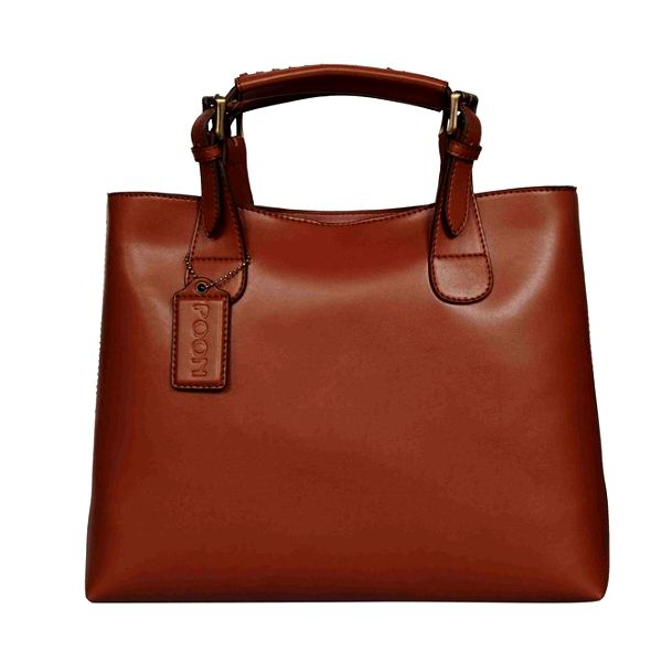 Dámská hnědá kabelka z telecí kůže POON Bags