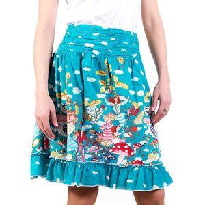 Dámská modrá sukně s obláčky a vílami Barbarella