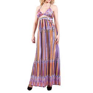 Dámské dlouhé barevné šaty Barbarella