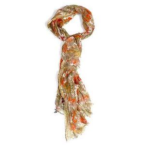 Dámský béžový šátek s květinovým vzorem Rosalita McGee