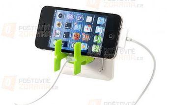 Limetkový stojánek na telefon a organizér na kabely - 2v1 a poštovné ZDARMA s dodáním do 3 dnů! - 26809602