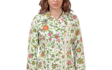 Dámský bílý kabátek s květinovým potiskem Rosalita McGee