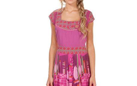 Dámské růžové šaty s plisovanou sukní Rosalita McGee