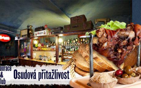 1KG VEPŘOVÉHO PEČENÉHO KOLENA včetně PEČIVA a ZELENINY za pouhých 106 Kč! Zastavte se na pořádnou porci do krásné restaurace Osudová Přitažlivost přímo v centru Prahy a využijte báječné slevy 60%!