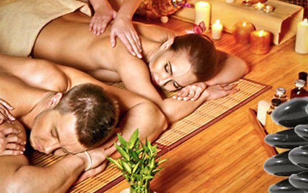 Dvojmasáž horkými lávovými kameny - masáž pro páry v jedné místnosti