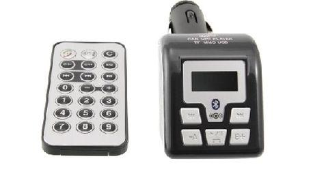 FM Transmitter Arkas CN-FMBT01, podpora Bluetooth handsfree, černý za bezkonkurenční cenu na trhu !
