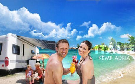 Týden u moře za 390 Kč? ANO! Báječný pobyt v italském přímořském letovisku Riccione s ubytováním v LUXUSNÍM KARAVANU*** v kempu Adria přímo u PÍSČITÉ PLÁŽE od 390 Kč! Užijte si čisté moře a úžasnou atmosféru Adriatické riviéry!