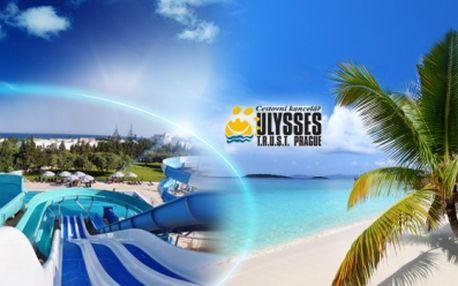 ALL INCLUSIVE 4* Tunisko, na 8 a 11 dní již od 11.990 Kč! Letecká dovolená na konci června nebo v červenci, vluxusním hotelu**** svelkým AQUAPARKEM a svěží tropickou zahradou, přímo u krásné široké písčité PLÁŽE!