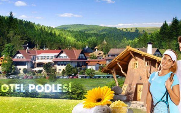 Navštivte Hotel Podlesí v srdci Českomoravské vrchoviny! 3DNY pro DVĚ osoby s POLOPENZÍ, MASÁŽÍ, TENISEM a vstupem do BAZÉNU můžete mít jen za 2650 Kč! Sleva 46%!
