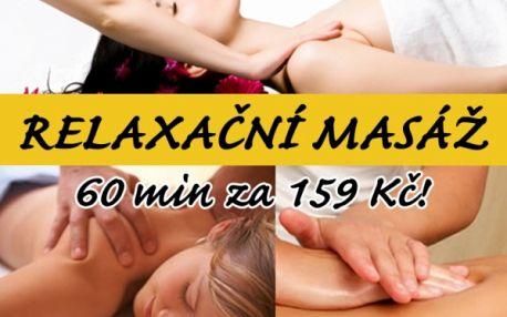 60 min. RELAXAČNÍ MASÁŽE zad a šíje rukami zkušených masérek!! Dopřejte si zasloužený relax, který vás vynese do výšin euforie. Centrum Prolinebody v centru Brna!!!!
