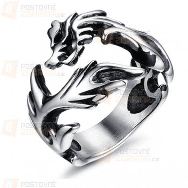 Pánský prsten s motivem draka a poštovné ZDARMA! - 12409658