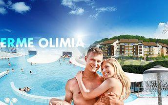 Navštivte luxusní TERMÁLY na Slovinsku! 3 DNY s ubytováním pro DVA ve 4* APARTMÁNU a nekonečný relax v lázních Terme Olimia v malebném městečku Podcetrtek za 4599 Kč! V ceně VOLNÝ VSTUP do rozsáhlého WELLNESS areálu!