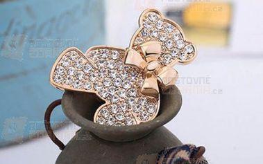 Brož medvídek s kamínky a poštovné ZDARMA! - 12409694