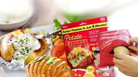Jen 169 Kč za revoluční sáček Potato Express! KOUZELNÝ SÁČEK uvaří brambory v mikrovlnce za pouhé 4 minuty! Super pomocník se slevou 58% a DOPRAVOU ZDARMA!