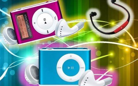 MP3 přehrávač hudba na cestách, při sportu v práci i ve škole!