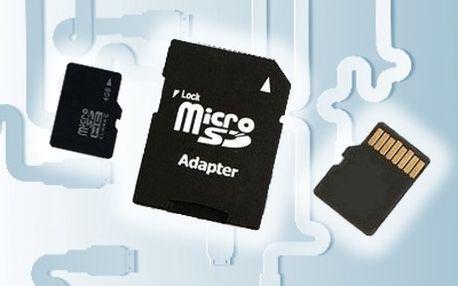 Paměťová karta Micro SD TF s adaptérem a doprava zdarma.