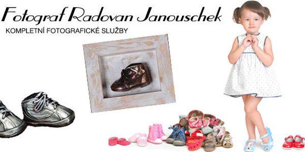 Bronzování dětských botiček – vzpomínka na první krůčky