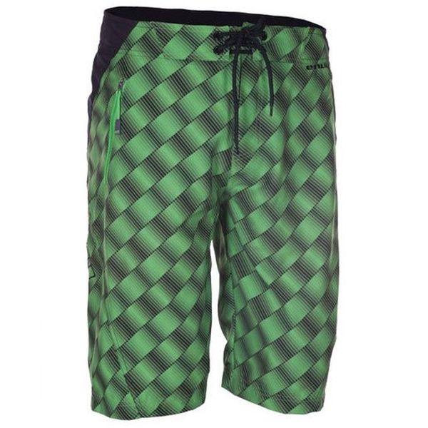 Pánské zeleno-černé potištěné šortky Envy