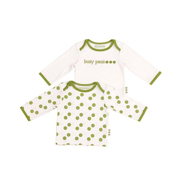 Tričko s hráškem - 2 kusy - 100% bavlna