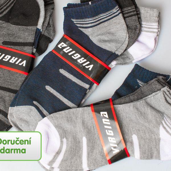 9 párů kotníčkových ponožek