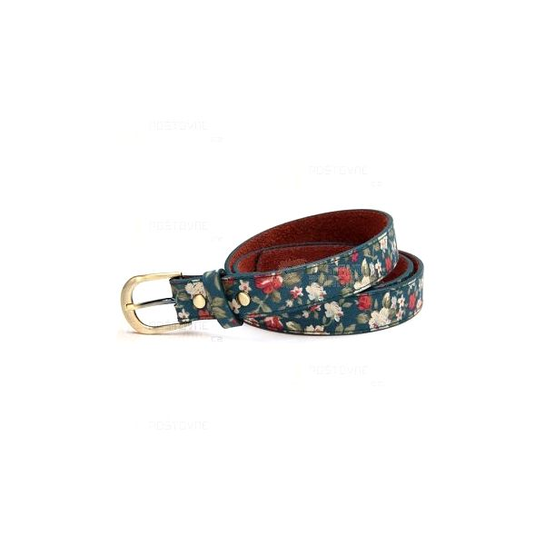 Stylový pásek s květinami a poštovné ZDARMA! - 12509683
