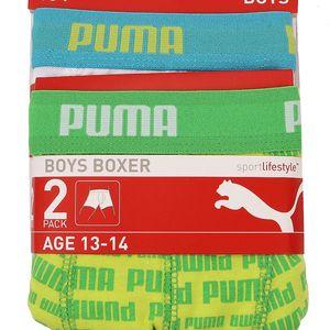 2x Chlapecké boxerky Puma - jedny v bílé barvě druhé v zelené barvě