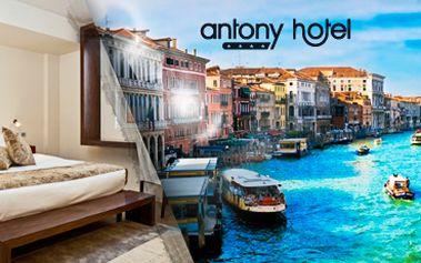 Romantické BENÁTKY PRO DVA na 3 nebo 4 dny včetně bohatých SNÍDANÍ v 4* hotelu ANTONY v Mestre, přímo v historickém a kulturním centru města, se slevou až 62 %